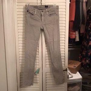 AG Stevie ankle 26 gray jeans